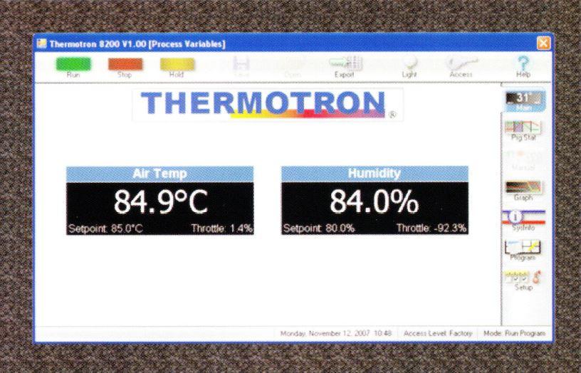 恒温槽・恒湿槽・環境試験装置の中の8200タッチスクリーンコントローラー